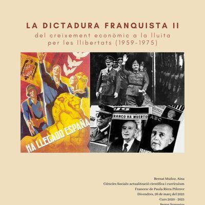 La dictadura franquista II: del creixement econòmic a la lluita per les llibertats (1959-1975) timeline