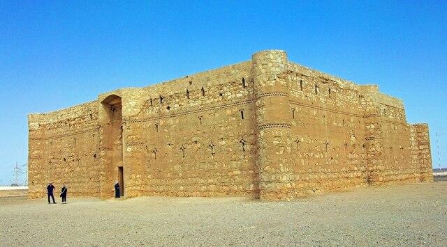 Qasr (Castillo)  Kharana. (Desierto de Jordania). - Omeya.