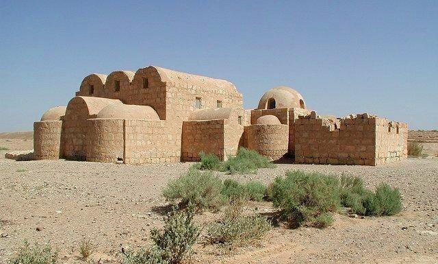 Qusair Amra. (Castillo desierto de Jordania). - Califato Omeya.