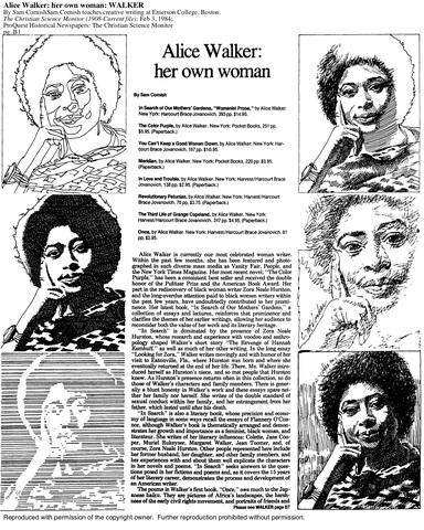 """Alice Walker's """"Womanist"""""""