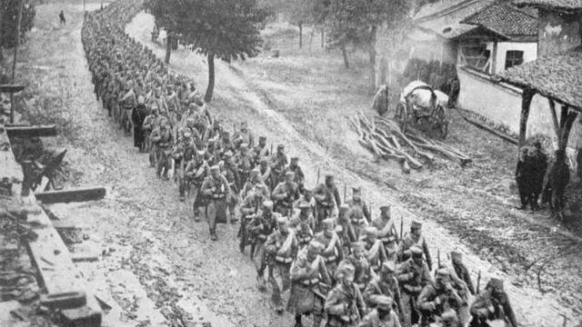 I Maailmasõja esimesed sõjalised sammud