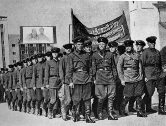 Punaarmee jõudude koondamine Eesti piiridele