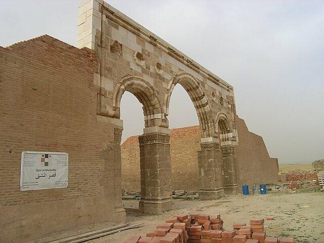 Palacio de Mshatta. Palacio de Invierno de Walid II. (Desierto de Jordania).