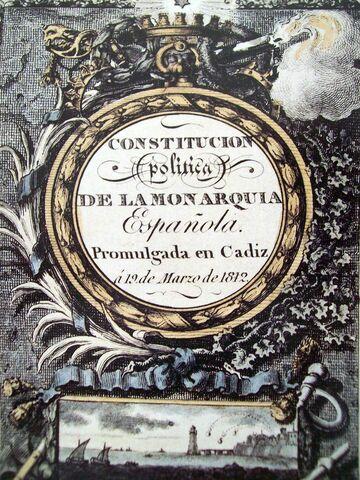 Proclama de la Constitución de 1812