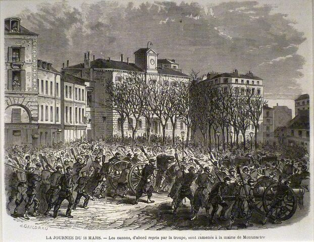 Thiers sends troops to disarm the capital; the people of Paris resist