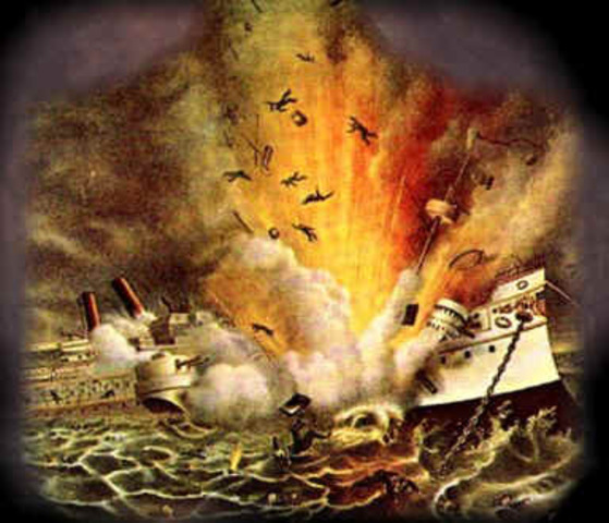 USS Maine Destroyed
