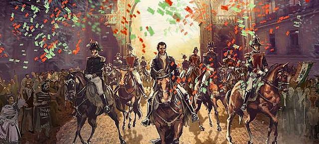 Llegada de Benito Juárez triunfante.