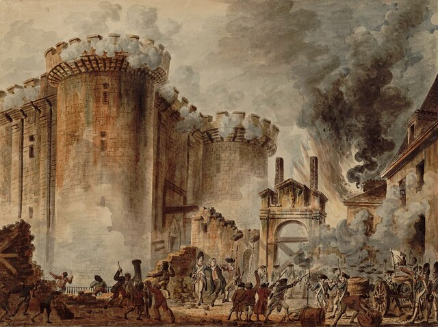 Storming of the Bastille in Paris