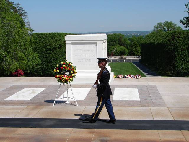 Unknown soldier of World War I buried