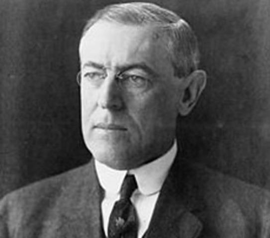 Former President Woodrow Wilson dies