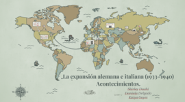 Expansion alemana e italiana (1933-1941) timeline