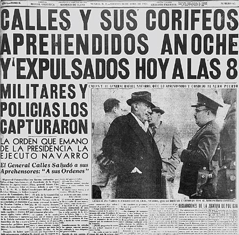Cárdenas expulsa a Calles del país