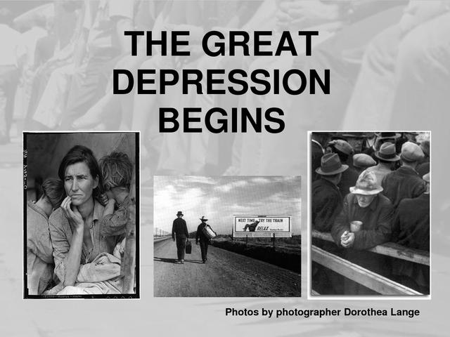 Great Depression Begins