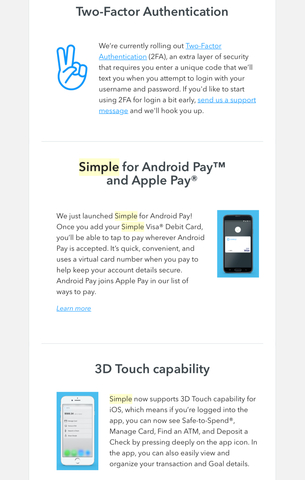 2FA, Android Pay, & 3D Touch for iOS