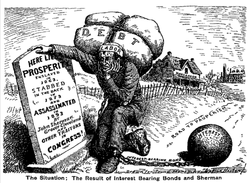 Congress passes the Sherman Anti-Trust Act, the Sherman Silver Purchase Act, and the McKinley Tariff.
