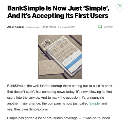Becomes 'Simple', First Non-Employee Users
