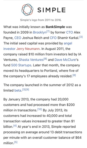BankSimple Founded