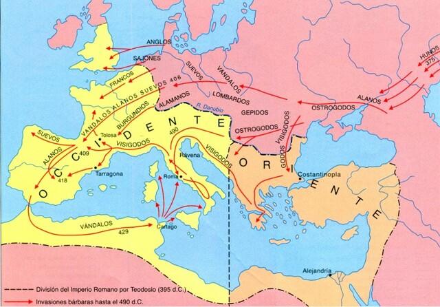 División del Imperio Romano