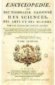 publicación de la L'Encyclopédie de Denis Diderot y Jean le Rond d'Alember