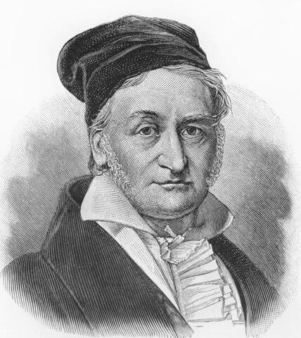 Nacimiento de Carl Friedrich Gauss.