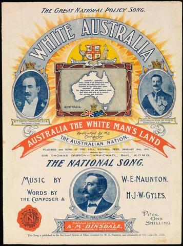 The White Australia policy