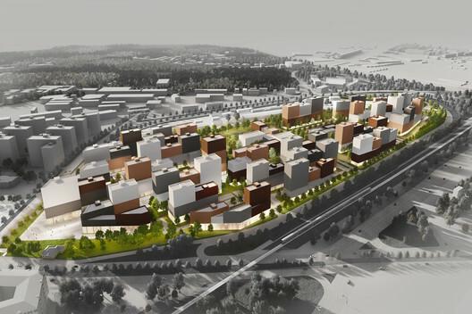 Nuevo Distrito residencial en San Petersburgo / KCAP + Orange Architects, San Petersburgo, Rusia