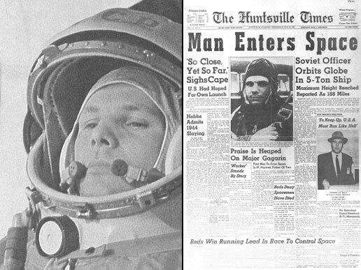 Yuri Gagarin Becomes First Man in Space