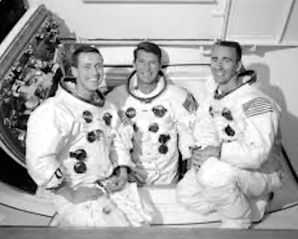 First manned Apollo mission