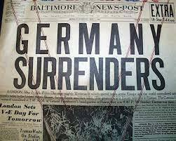 Germany unconditionally surrenders