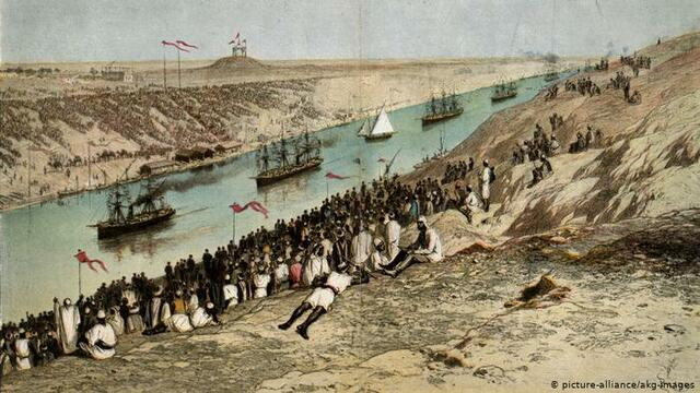 the construction of the suez canal