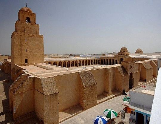 Gran Mezquita de Kairuán. (Túnez) por arquitecto Uqba ibn Nafi.