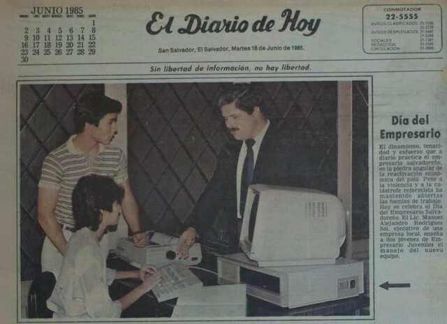 Primera computadora en El Salvador