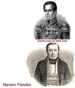 Rebelión militar de Santa Anna y Mariano Paredes