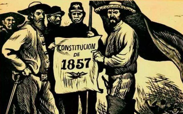 Constitución federal de los Estados Unidos Mexicanos/ Inicio guerra liberales vs. conservadores