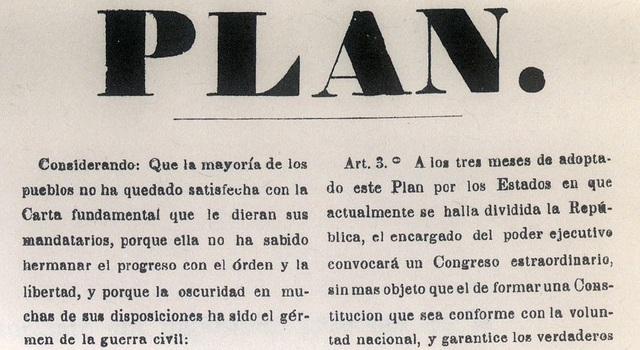 El Plan de Tacubaya/ Comienzo guerra reforma o Guerra de los Tres Años