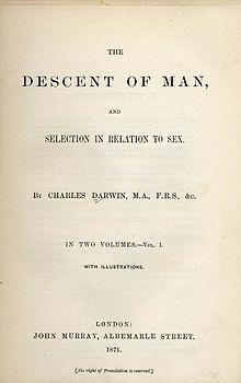 """Publica """"La descencencia humana y la selección sexual"""""""