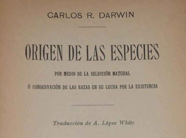 """Traducción al castellano de """"El origen de la especies"""""""