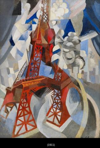 La Torre Eiffel roja, Robert Delaunay, 1909-1910