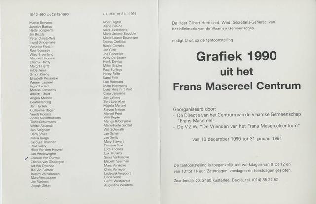 Grafiek 1990 uit het Frans Masereel Centrum