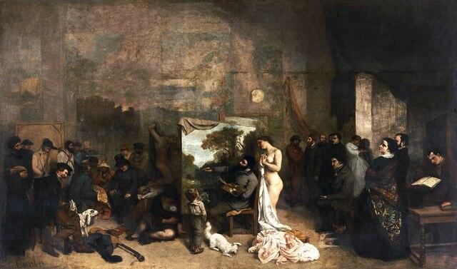 El taller del pintor. Gustave Coubert