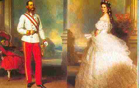 El emperador Francisco Jose se casa con Sissi emperatriz
