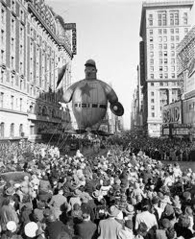 First Macy's Thanksgiving Day Parade
