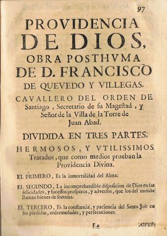 Publicación: Providencia De Dios