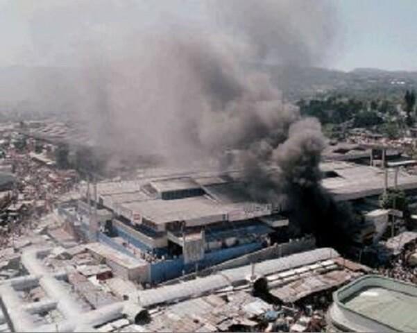 Incendio del primer Mercado Central.