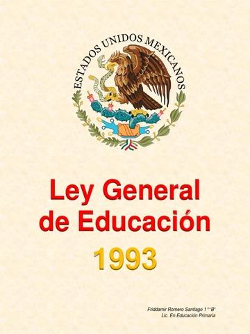Se publica la Ley General de Educación.