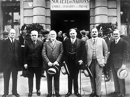 Founding of The League Of Nations