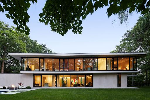 Ravine House (Lago Michigan) por Robbins Architecture.