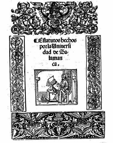 Primeros estatutos de la Universidad de Salamanca.
