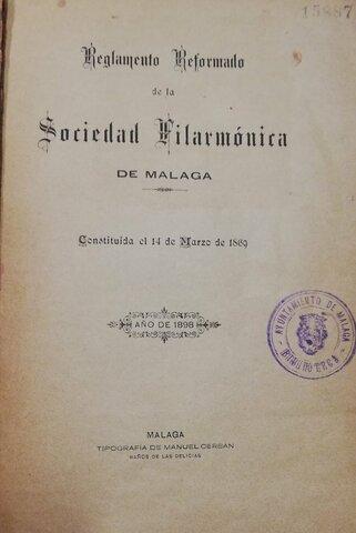 Instauración de la Sociedad Filármónica