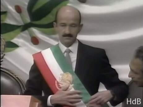 El PRI proclama la victoria de su candidato Carlos Salinas